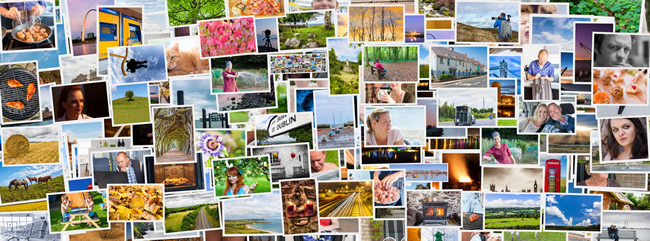 tourism social media destination collage