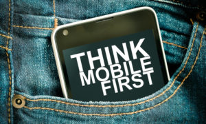 mobile first smartphone in pocket graphic