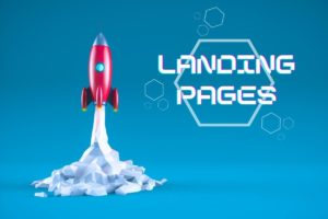 Feature image landing pages